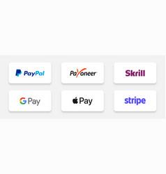 Delhi india - february 27 2021 popular payment vector