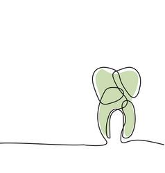 dental line art drawing vector image