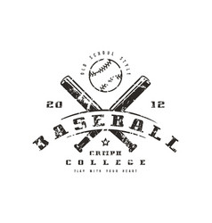 Emblem of baseball championship vector