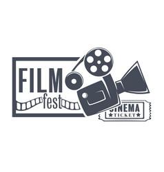Film fest cinema festival presentation new vector