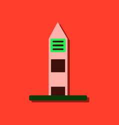 Flat icon design collection military watchtower vector