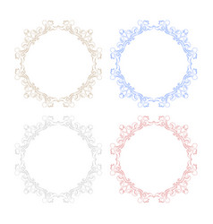 floral ornament colored frames vector image