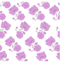 flower print pink flowers seamless pattern vector image