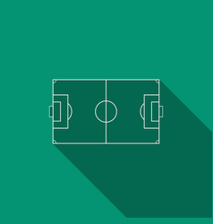 football field or soccer field with long shadow vector image