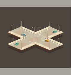 Four-way intersection vector