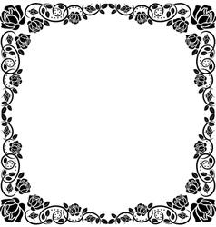 frame roses vector image