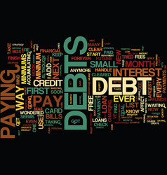Free from debt text background word cloud concept vector