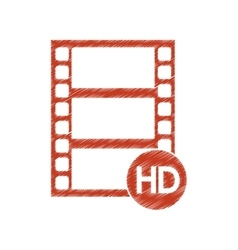 Isolated film strip design vector