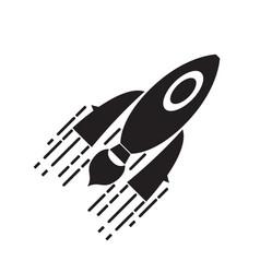 Isolated spaceship logo vector