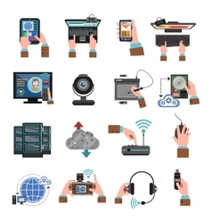 It Devices Icons Flat vector