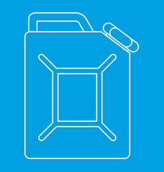 Jerrycan icon outline style vector