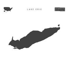 Lake erie map isolated on white background vector