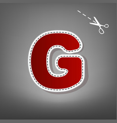 letter g sign design template element red vector image