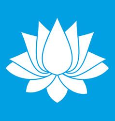Lotus icon white vector
