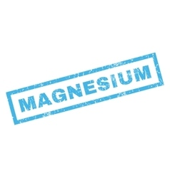 Magnesium Rubber Stamp vector