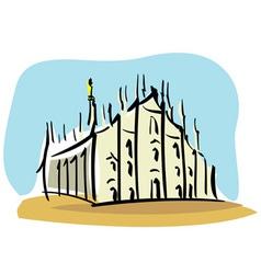 Milan the Duomo of Milan vector