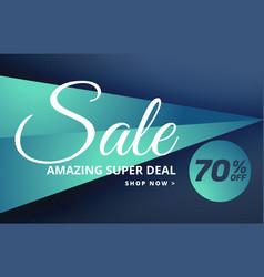 Modern sale banner design with offer details vector