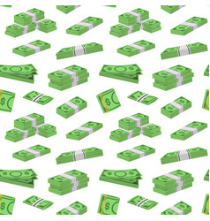 Money dollar packing in bundles of bank notes vector