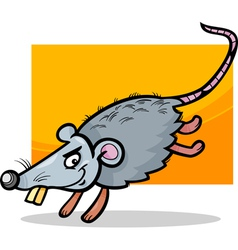 Mouse or rat cartoon vector