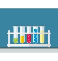 Multicolor test tubes vector