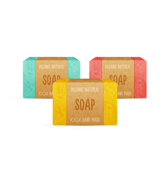 natural handmade soap bars vector image