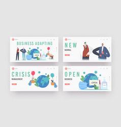 New normal changes in business landing page vector