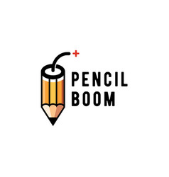 Pencil boom logo vector