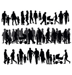 People on the street vector