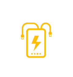 Power bank icon on white vector