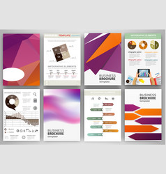 purple and orange business backgrounds and vector image