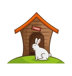 Rabbit pet shop icon vector