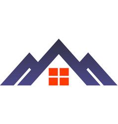 residence home estate logo icon vector image