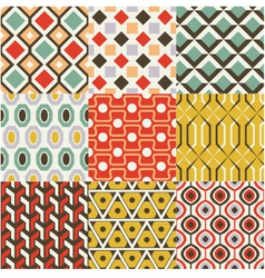 retro seamless abstract geometric pattern vector image