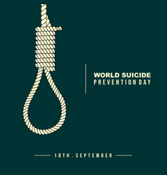 rope for hanged oneself vector image