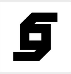s so sd gg gog initials geometric letter company vector image