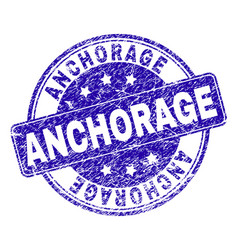 Scratched textured anchorage stamp seal vector