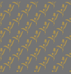 seamless pattern with milkvetch astragalus on dark vector image