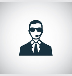 security man icon for web and ui on white vector image