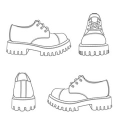 Set black and white with boots vector