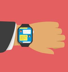 Smart watch message vector
