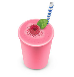 smoothie raspberry vector image