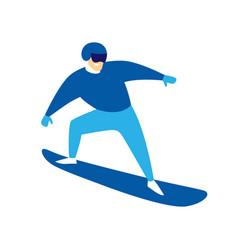 snowboarder jumping man vector image