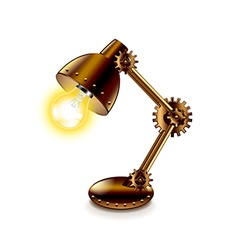 Steampunk lamp isolated on white vector