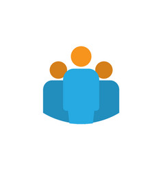 team flat icon symbol premium quality isolated vector image