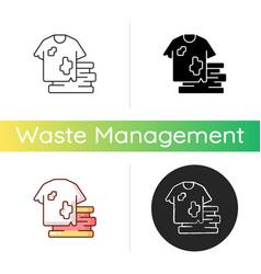 textile waste icon vector image