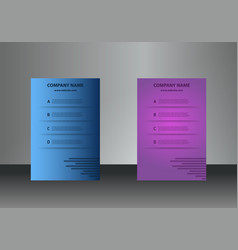 vertical business cards print template personal vector image