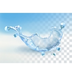 Water splash element vector image