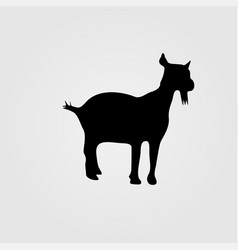 White goat side view isolated vector
