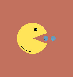 yellow toy smile in flat style vector image
