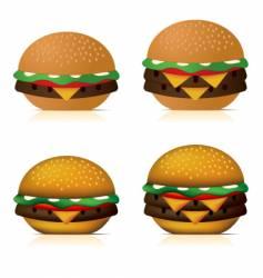 cheeseburgers vector image vector image